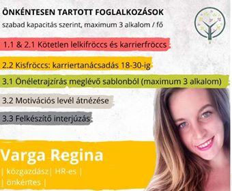 Varga Regina Mutass jó példát kampány