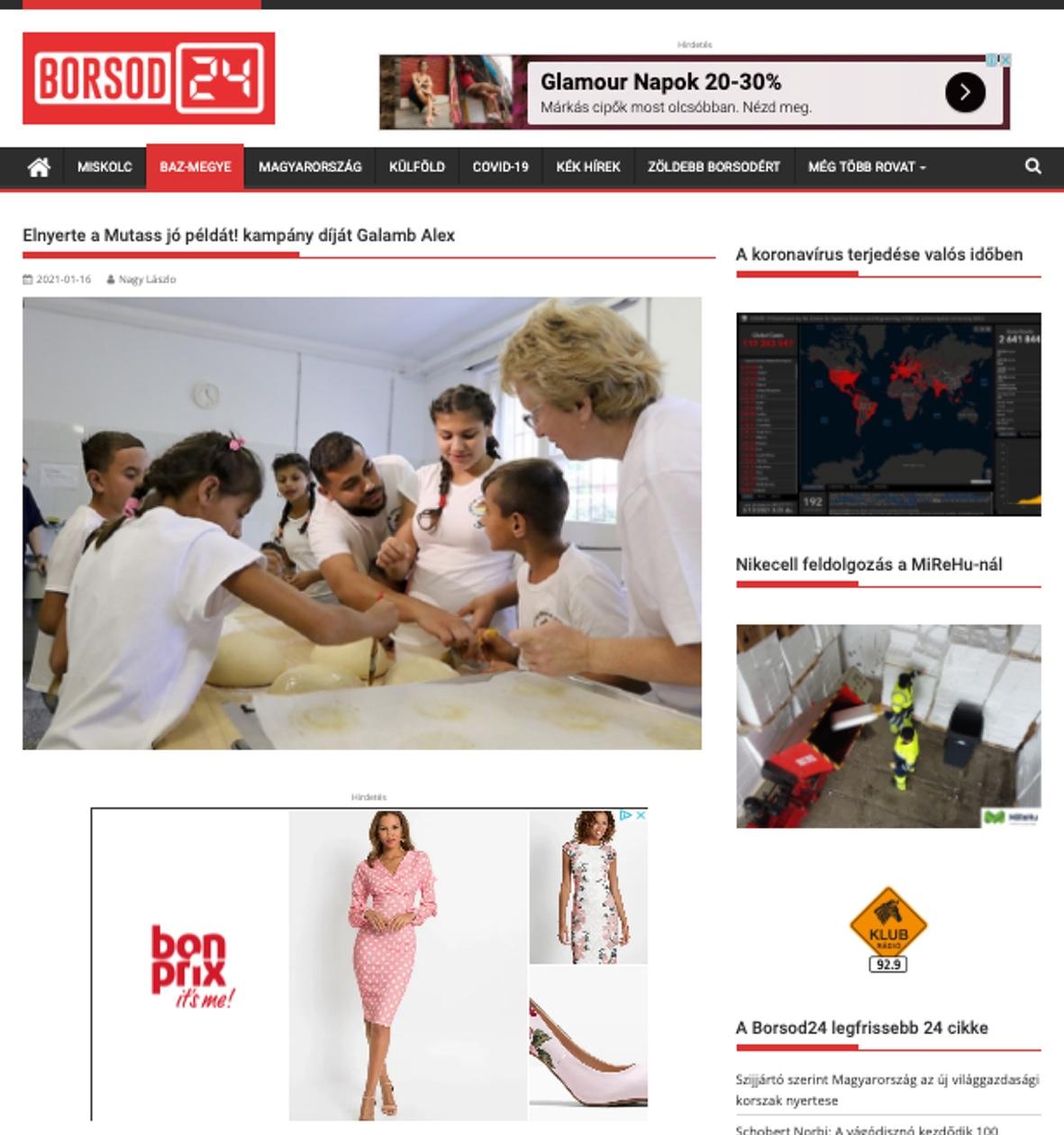Mutass jó példát kampány médiamegjelenés Borsod24
