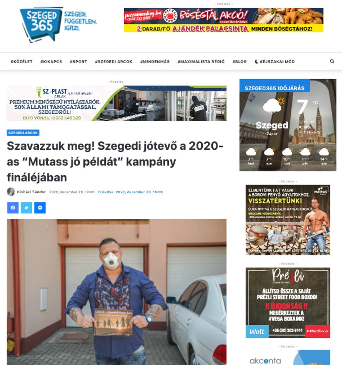 Mutass jó példát kampány médiamegjelenés Szeged365